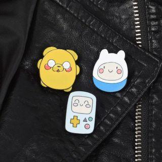 bnip cartoon adventure time enamel pin badge