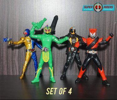 Kamen Rider Gaim/Drive/W/Ghost (set of 4)