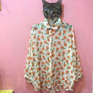 [彩色櫥窗]夏季水果印花可愛博襯衫外套(5款)