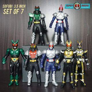 Kamen Rider Blade/Agito/Kiva/Faiz (set of 7)