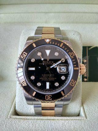rolex submariner 116613LN diamond dial