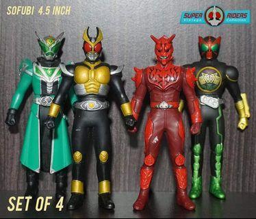 Kamen Rider Agito/Den-O/Wizard/OOO (set of 4)