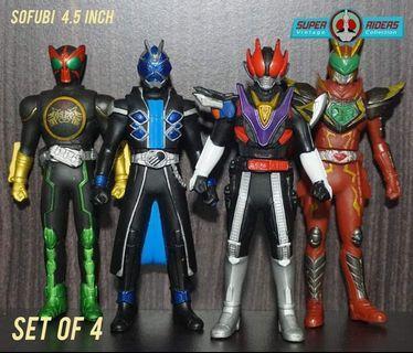 Kamen Rider Wizard/Den-O/OOO/Blade (set of 4)
