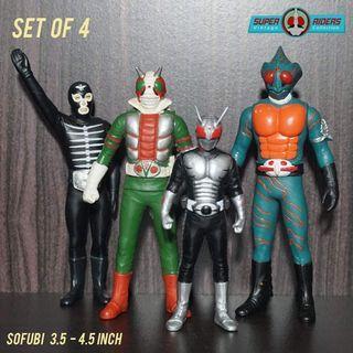 Kamen Rider V3/Super 1/Amazon/Shocker Combatman (set of 4)