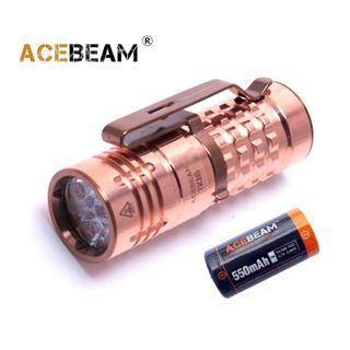 {MPower} AceBeam TK16 CU Copper Luminus SST-20 1250流明 EDC LED Flashlight 銅版 電筒 - 原裝行貨