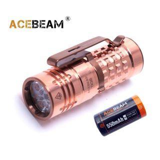 {MPower} AceBeam TK16 CU Copper 德國名廠 OSRAM 1300 流明 EDC LED Flashlight 銅版 電筒 - 原裝行貨