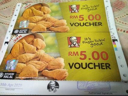 KFC Voucher worth RM 30