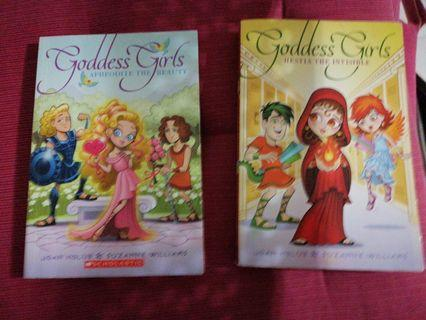 Goddess girls Aphrodite the beauty and Hestia the invisible fiction books(2)
