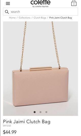 Pink Jaimi Clutch Bag