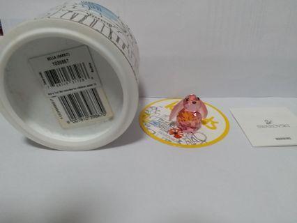 Swarovski Crystal Pink BELLA RABBIT,MIB COA