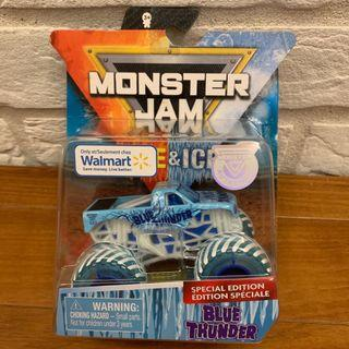 🚚 Monster Jam Blue Thunder 1:64 Fire & Ice Limited Edition