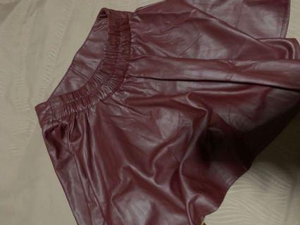PU A-line Skirt