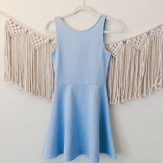 H&M Baby Blue Skater Dress