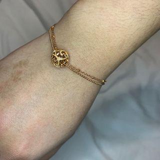 Rose Gold Plated Sterling Silver Bracelet