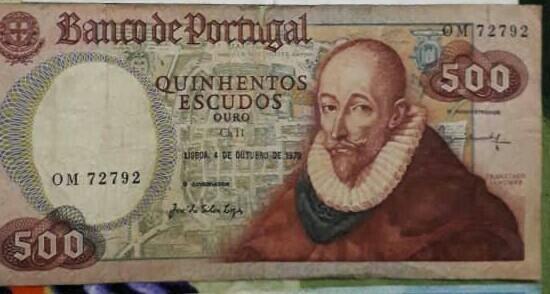 Portugal 500 note era 1978