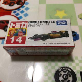 🚚 Tomica no.14 Formula Renault 3.5 with stickers