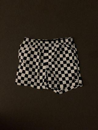 Checker swim shorts