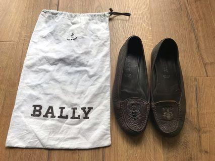 Bally Womens Brown Leather Flats