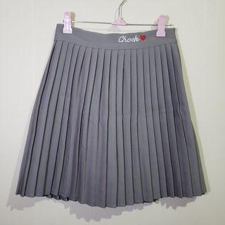 灰色百褶裙 橡根腰 有打底 中碼