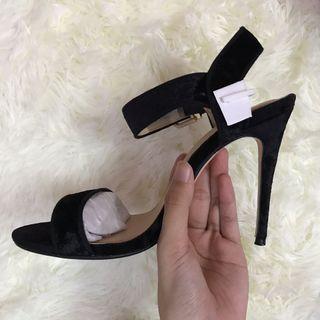 Zalora velvet heels