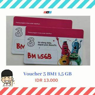 Voucher data tri 1,5gb