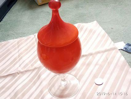 Orange glassware container