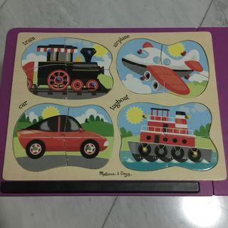 Puzzle Kayu 4 pcs in 1 - Transportation