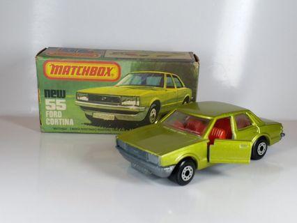 Matchbox 火柴盒 ~ FORD CORTINA ~英國制造 made in England~ 1979年生產, 全新, 冇疹 冇黑車轆 , 盒子有點殘舊,不合完美主義者. 非常罕有.