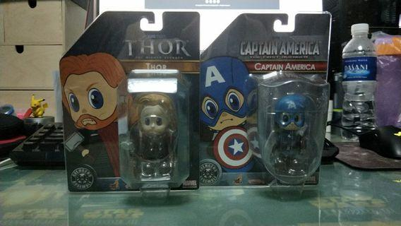Hot Toys Cosbaby Captain America and Thor