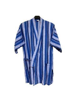 古著直條紋日本作務衣(平量尺寸cm)