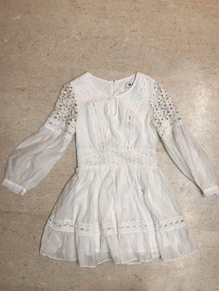 White broderie lace dress