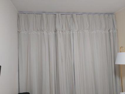 Curtain到地大窗簾一對