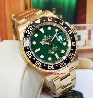 Brand New ROLEX GMT Master II Solid Yellow Gold Bracelet 116718