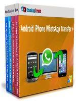 BackupTrans Android to iOS Whatsapp Transfer for Windows.