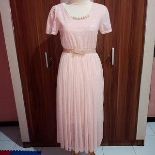 Tutu peach long dress