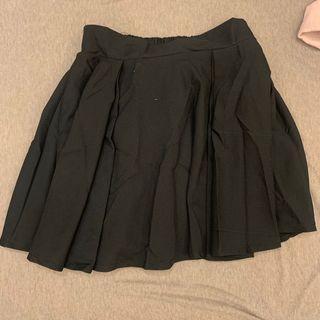 黑色鬆緊短裙