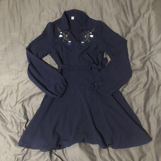 🚚 Blossom dress (dark blue)