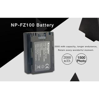 NP-FZ100 Battery for Sony Sony A7RIII, Sony A7R3, Sony a7III Mirrorless Camera (Free Battery protection Box with SD & Micro SD Holder)