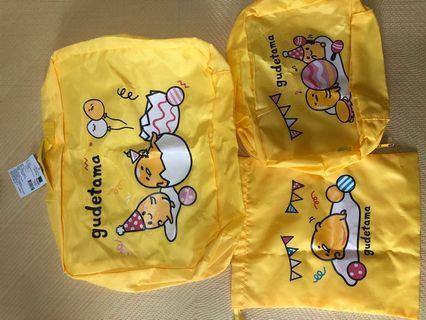 🚚 蛋黃哥旅行袋組盒全新