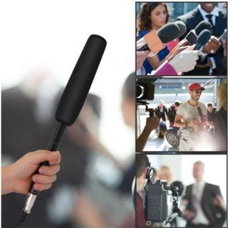 Pro Interview Microphone (Compatible with DSLR, Mirrorless & smartphone)