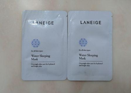 Laneige Water Sleeping Mask 水亮補濕睡眠面膜 4mlx2