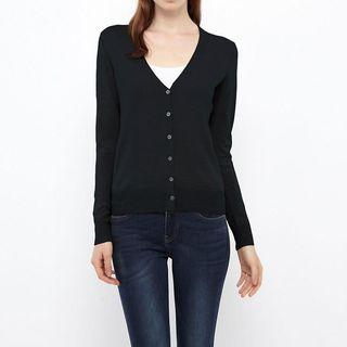 UNIQLO V-Neck Black Cardigan