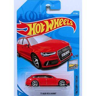 Hotwheels 2018 Factory Fresh '17 Audi RS 6 Avant Rare Hot Wheels