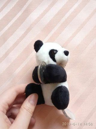 Mini clip on panda