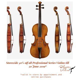 Belcanto Violins Professional Series Violins Sale now at 40% off