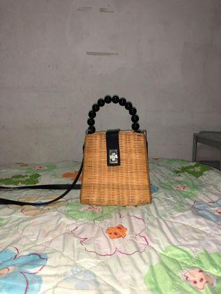 Retro rattan Bag