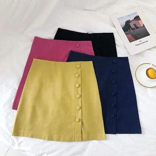 JAYNE BUTTON SKIRT