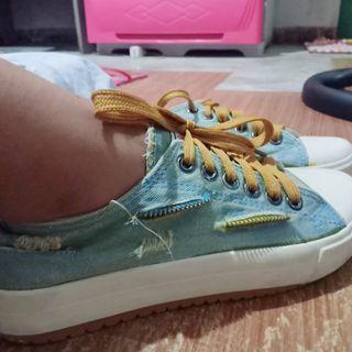 Denim Ripped Sneakers