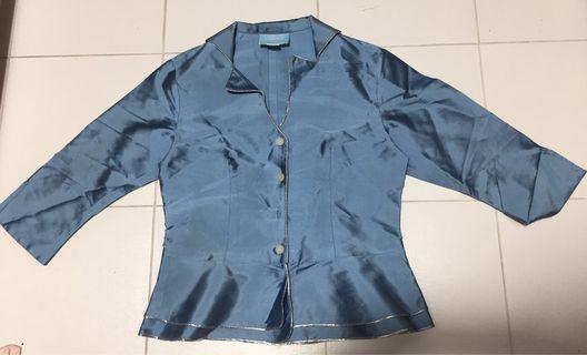 🚚 Blue collar shirt