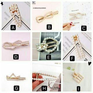 Fashion Pearl Metal Hair clip Accessories